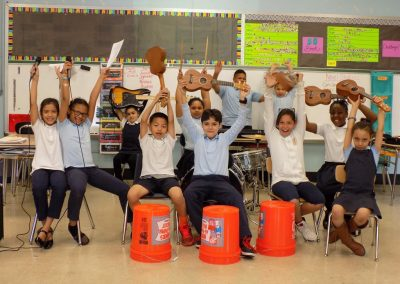 Photo of Students participating in the Modern Band After School Program at McKinley Elementary, Allentown