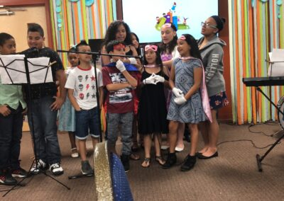 Children performing at the Casa Guadalupe Musical Showcase