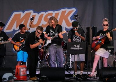 Photo of CMS Modern Band students performing at Musikfest