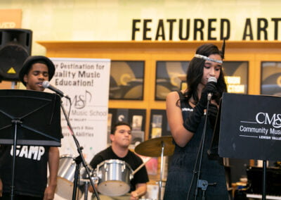 CMS Modern Band performs at Monster Concert at Barnes & Noble