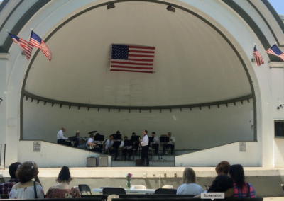 Photo of the CMS Big Band performing at West Park Brunch