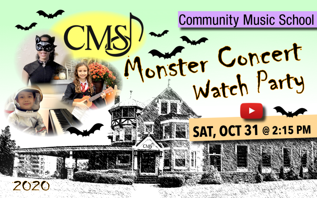 Announcement Graphic for the CMS 2020 Monster Concert Watch Party