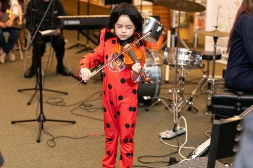 Monster Concert Child playing violin