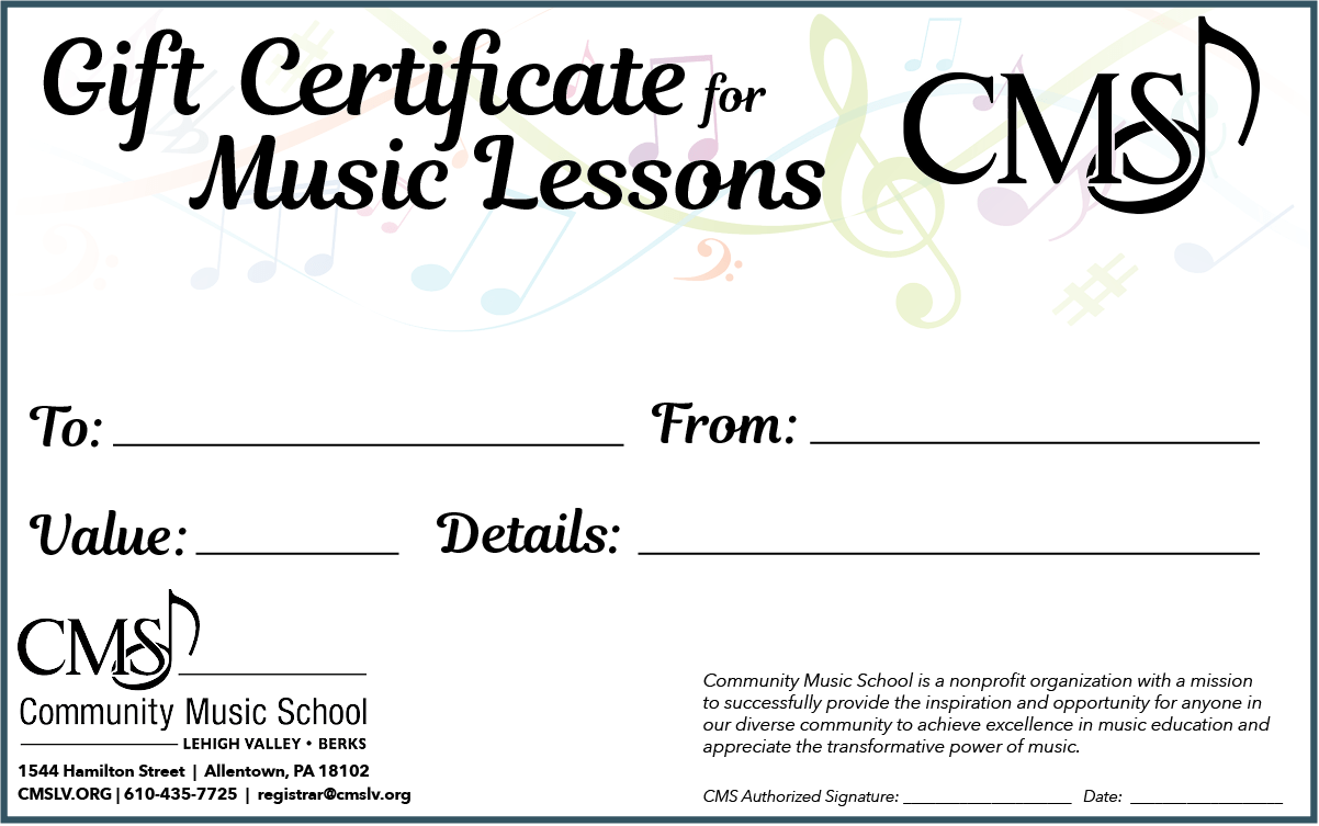 CMS Gift Certificate Web Image