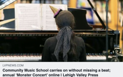IN THE NEWS:  Community Music School carries on without missing a beat; annual 'Monster Concert' online