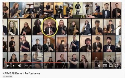 CMS Student Performs in All-Eastern Virtual Concert